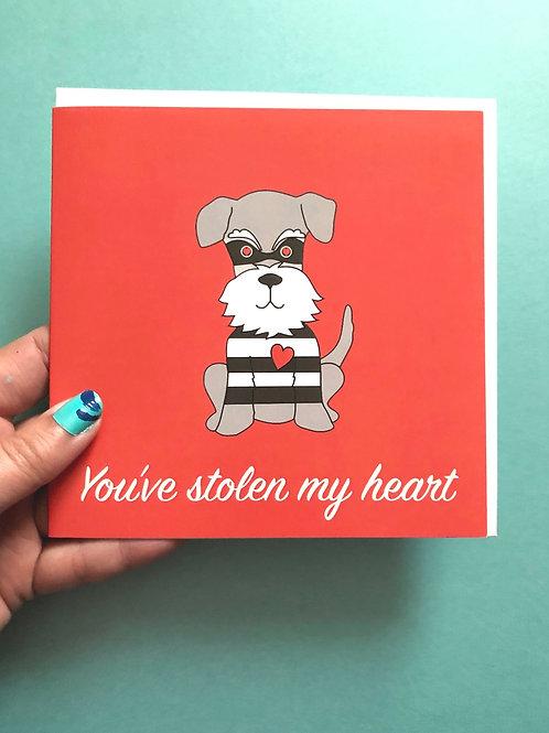 You've stolen my heart (schnauzer card)
