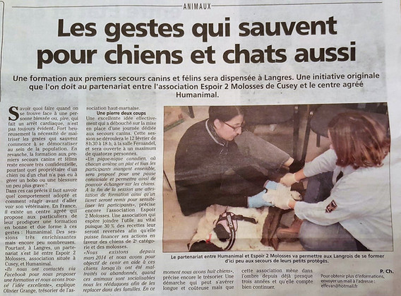 Article Voix de l'Ain janivier 2017.jpg