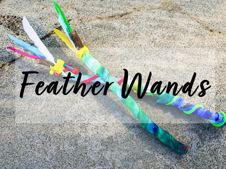 Kids Feather Wands