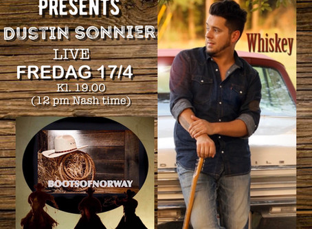 Bootsvennen Dustin Sonnier går live på Boots of Norway fredag 17/4!