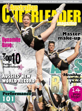Cover of Australian Cheerleader Magazine to go with Cheer Chick Charlie article.png