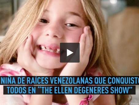 E online! Con solo 7 años esta niña de raíces venezolanas brilló en The Ellen DeGeneres Show