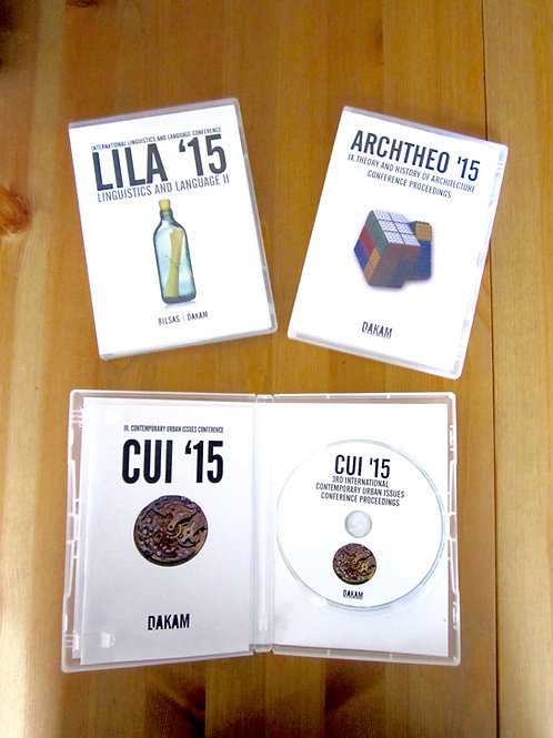 A Special Set! CUI, LILA, ARCHTHEO 2015Proceedings