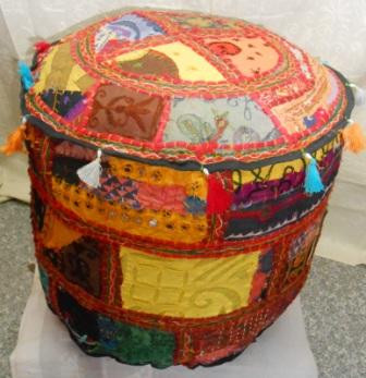 OLD PATCHWORK PUFF