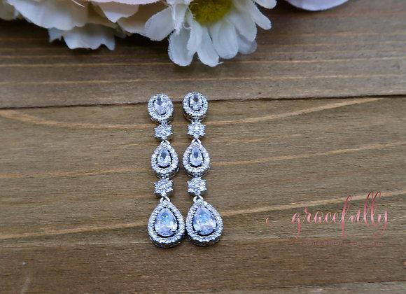 Water Drop CZ Earrings