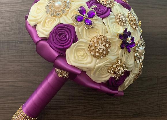 Stunning Purple Brooch Bouquet
