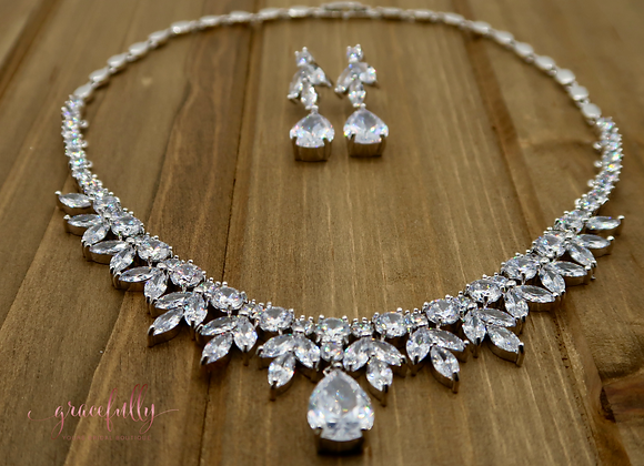 Peardrop & Marquise Shape Jewelry Set