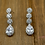 Thumbnail: Pear Drop Shape Bridal Jewelry Set
