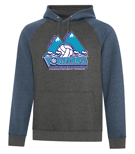 """AA"" Girls Volleyball Two Tone Hoody"