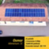 Projet fotovoltaico instalado em residência na cidade de Witmarsum