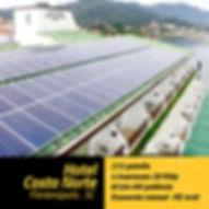 Projeto fotovoltaico instalado no hotel Costa Norte em Florianópolis.