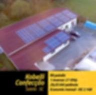 Projeto fotovoltaico instalado na Kobelli Confecção em Salete.