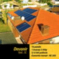 Projeto fotovoltaico instalado em residêcia na cidade de Taió.