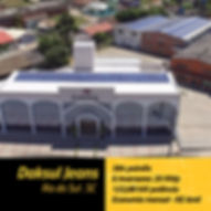 Projeto fotovoltaico instalado na empresa Daksul em Rio do Sul.