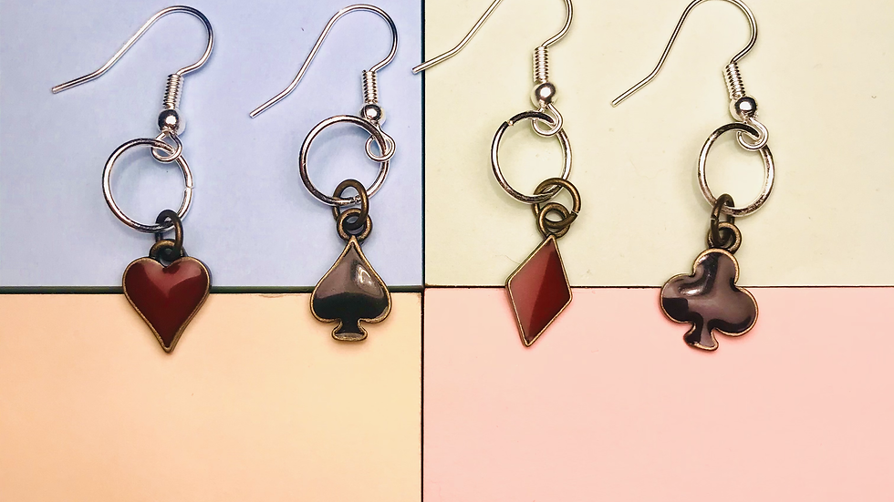CARD GAME EARRINGS