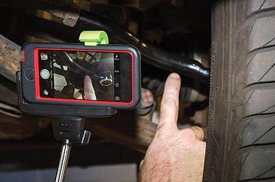 Technician takes video of rcommended servic work for customer to instantly view