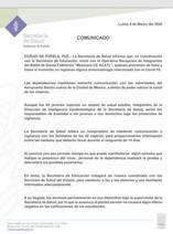 COMUNICADO DE SALUD COVID-19