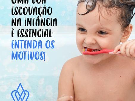 Uma boa escovação na infância é essencial: entenda os motivos!