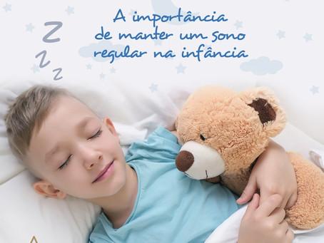 A importância de manter um sono regular na infância