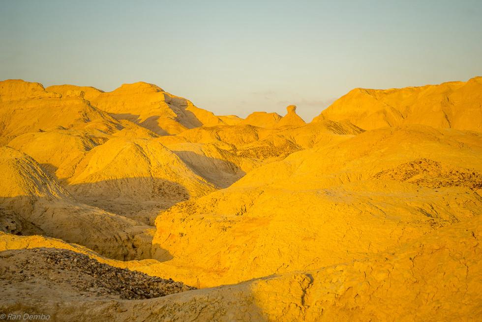 Marlstone rock formation, in Neot HaKikar, Israel