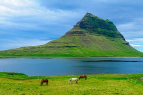Kirkjufell mountain in the Snaefellsnes peninsula, Iceland