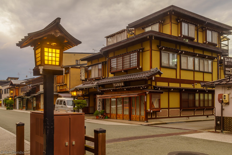 Evening scene of the old township, Takayama, Japan
