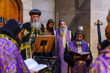 Coptic pray, on Orthodox Good Friday