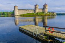 Olavinlinna castle, in Savonlinna, Finland