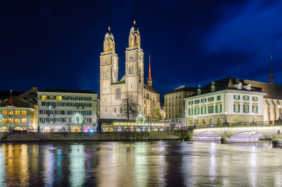 The Grossmunster (great minster) church, Zurich, Switzerland