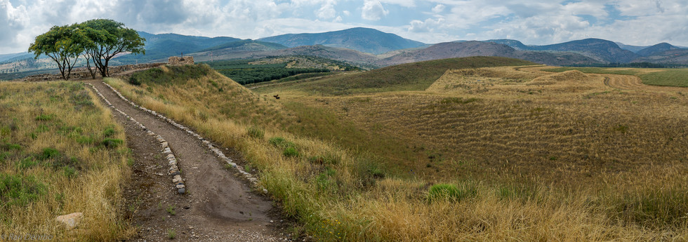 Landscape of countryside in the Hula Valley, Israel