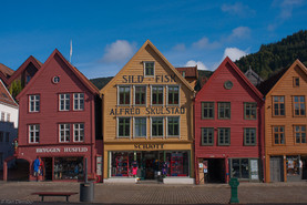 Bryggen, in the city of Bergen, Norway