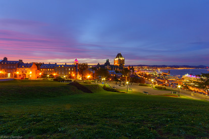 Sunset view of Quebec City, Canada