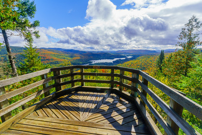 La Pimbina valley in Mont Tremblant NP, QC, Canada