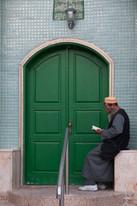 Mosque door in Acre (Akko), Israel