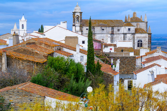 Rooftop view of the center of Monsaraz, Portuga