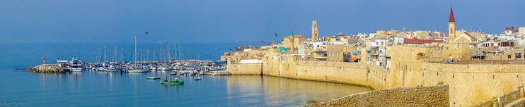 Rooftop view of Acre (Akko), Israel
