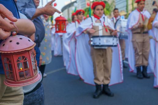 Holy Saturday parade, part of Orthodox Easter celebration in Haifa
