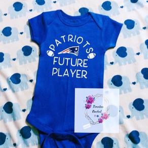 Future Player : Patriots inspired onesie