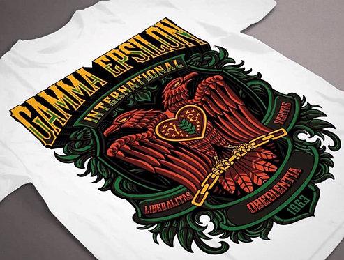 Plastisol Gamma Epsilon Eagle & GE/GLE Frat Shirt