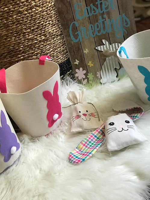 Personalized Easter Treat Sack, Long Ears Bunny Treat Sack, Easter bags
