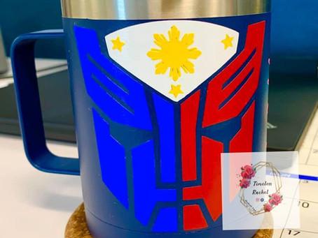 Philippine flag inspired design!