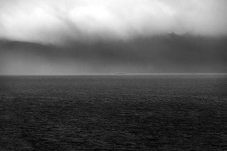 Glacier Bay in Black and White