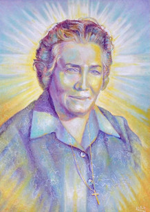 Demarista Parretti , figlia sprituale di San Pio e fondatrice del Centro di Spiritualità Francescana ; Virginiolo .Virginiolo