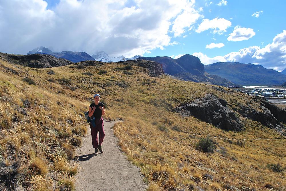 Woman hikes