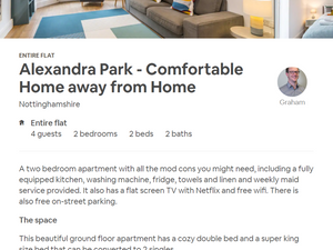 How to be a successful Airbnb host blog - screenshot of a listing on Aibnb