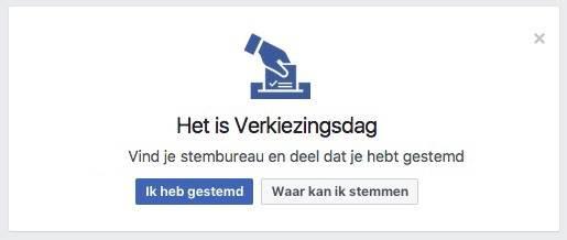 De overheid gebruikt Facebook om mensen naar stembus te krijgen