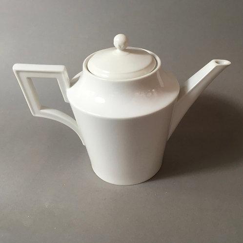 Kaffeekanne von KPM weiß - klassizistischer Entwurf