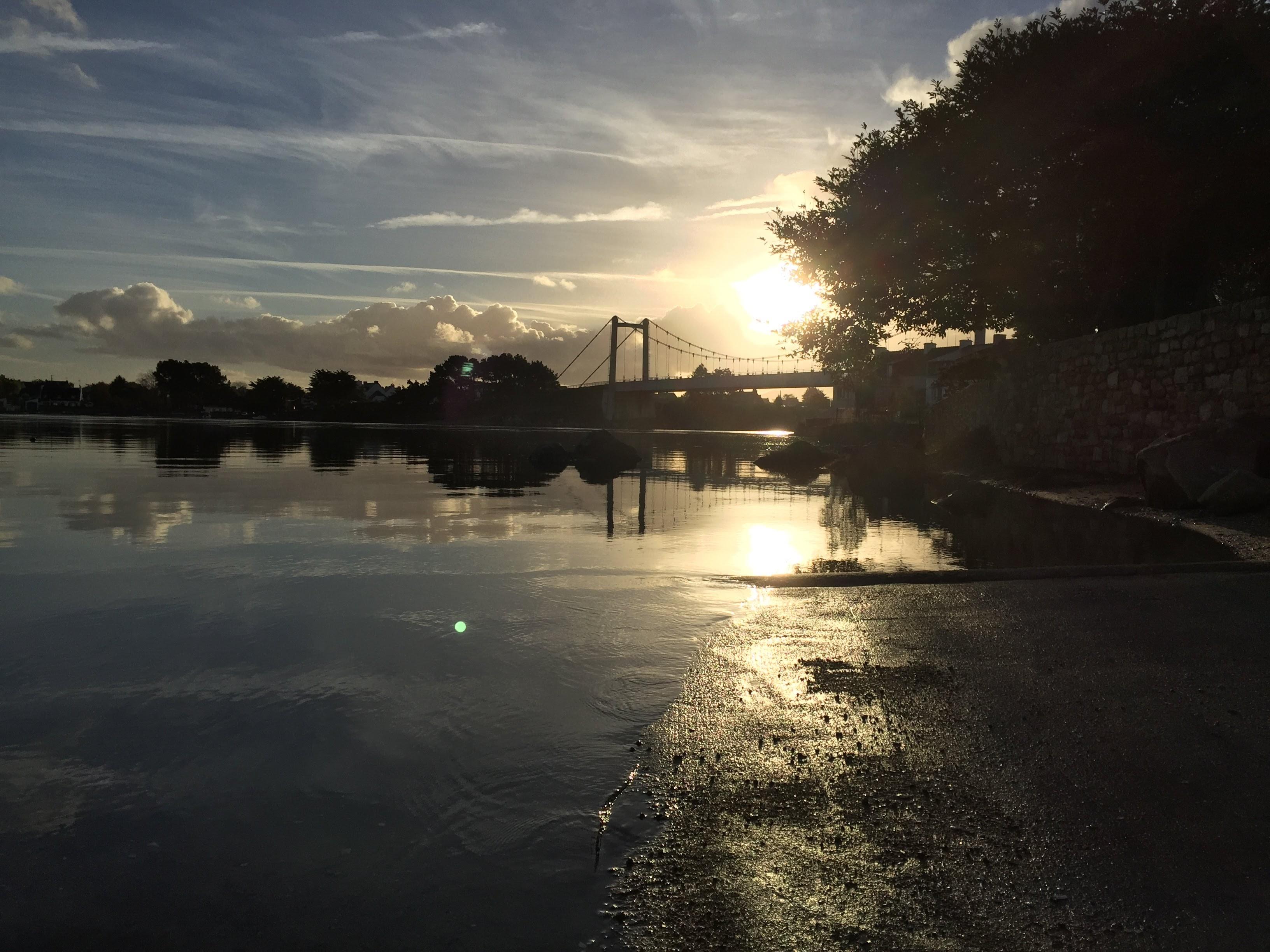 Pont Lorois Couché de Soleil
