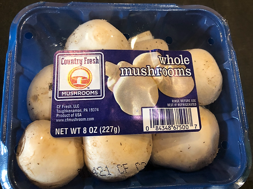Mushrooms- White Button