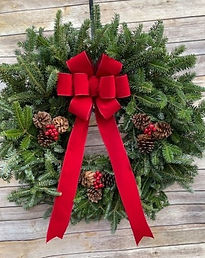 Wreath with Red Bow